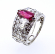 CARTIER Art Deco Ruby and Diamond Ring c 1925